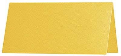 100 stuks - Artoz Serie 1001 premium tafelkaarten, geribbeld - 100 x 90 mm, hoogwaardig, zonnegeel