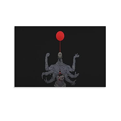 Póster de anime regalos para hombres Ching Yeh Fal-se Dios Esqueleto Músculo Seis Brazos Estampados Cartel de Sala de estar Arte de pared Decoración Lienzo Colgante Cuadro 30 × 45 cm