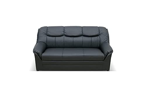 DOMO. collection Berlin FK, klassisches Sofa,Sitzer mit Federkern, Polstergarnitur, schwarz, 3