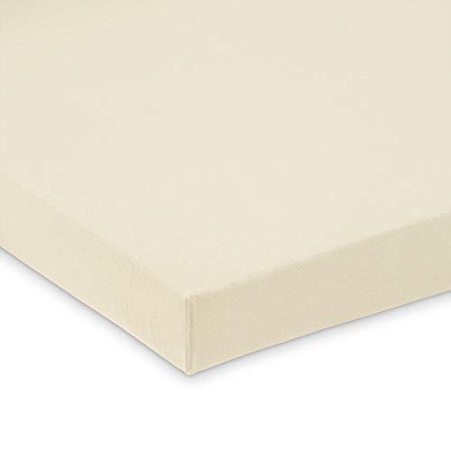 FabiMax Jersey Spannbettlaken für Laufgitter 100x100 cm, beige