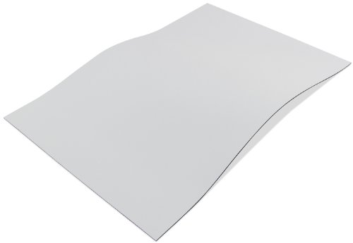 Flexible Magnet Sheet, White Vinyl, and Project Idea Sheet, 0.020' Thick 5' Wide, 8' Length (Pack of 1)