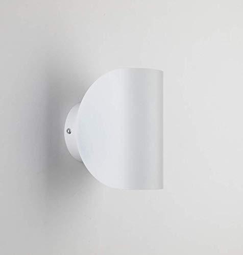 KDLAKE Lámpara de pared LED para mesita de noche, lámpara de lectura con pantalla de metal, adecuada para la sala de estar del dormitorio,blanco