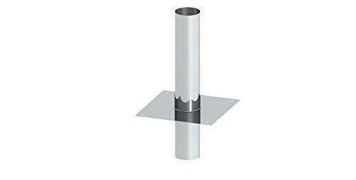 Schornsteinverlängerung/Kaminerhöhung EW einwandig, Wandstärke 0,6mm; Erhöhung um 500mm; Ø 100mm Innendurchmesser, Edelstahl