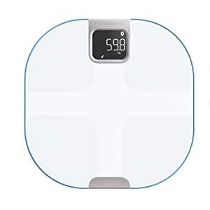 Rowenta YD3096 Body Partner Shape Bilancia Pesapersone Wireless Smart Connessa al Cellulare, con Tracker per Misurazione della Composizione Corporea, Bianco