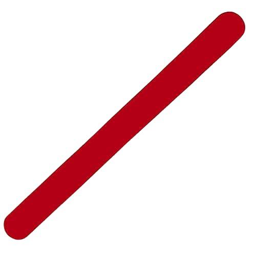 Protector para Pala de Padel Básico ZRZ con Acabado Rugoso para Mayor Protección (Rojo)