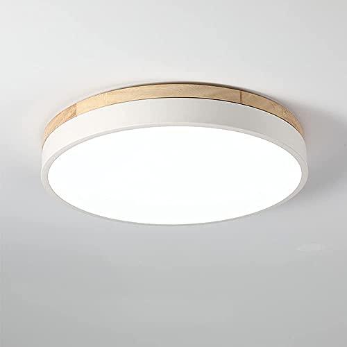 KAUTO Luces de Techo LED Redondas Modernas de 18 W, Luces de Techo Regulables, lámpara de Techo LED para Sala de Estar, Dormitorio, Cocina, balcón, Pasillo (Blanco, 30 cm)