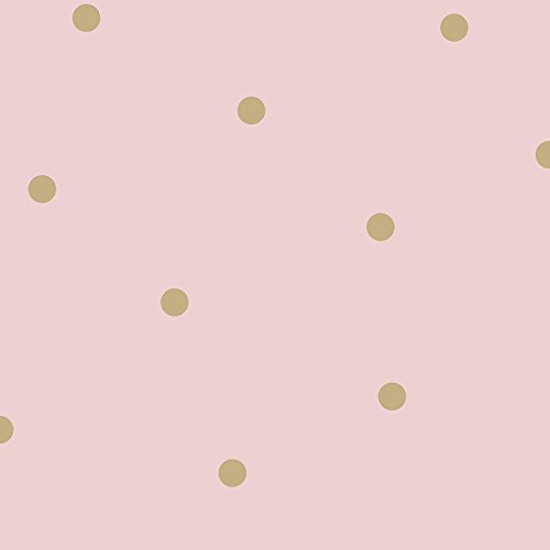 Dotty Tapete Pink / Gold Holden 12604