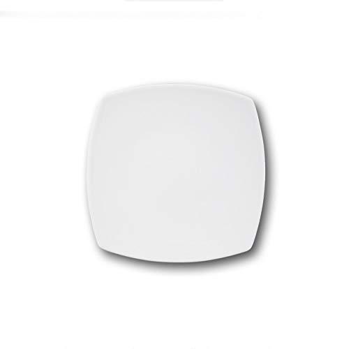 Assiettes à dessert porcelaine blanche x 6 - L 21 cm - Tokio