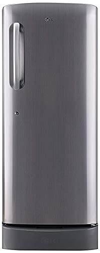 LG 235 L 3 Star Direct-Cool Single Door Refrigerator (GL-D241APZD, Shiny Steel, Base stand with Drawer)