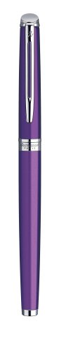 Waterman Hémisphère 10 Fountain Pen Lacquered Purple Steel Nib M Chrome Attributes
