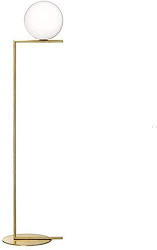 GLXLSBZ Lámpara de pie de Bola de Cristal Moderna Lámpara de pie, lámpara de pie de Bola de sofá de Sala de Estar Lámpara de cabecera de Dormitorio Personalizada, L