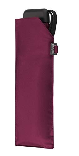 doppler Regenschirm Taschenschirm Mini Slim Carbonsteel sturmsicher bis 100km/h flach & leicht royal Berry