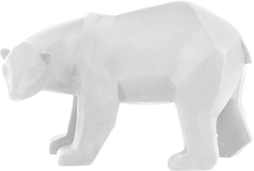 Present Time - Statue Ours Blanc Large Origami