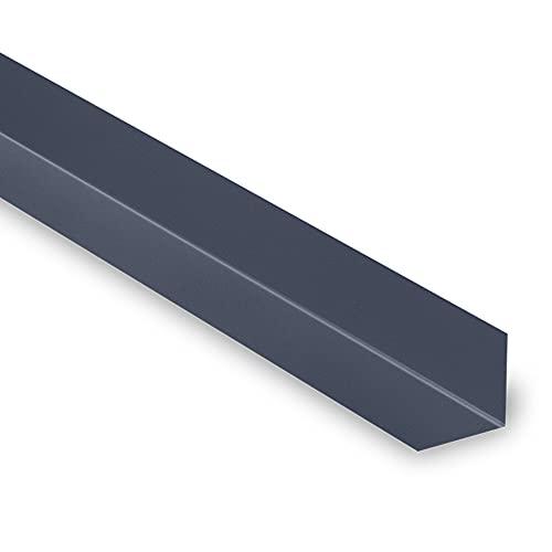 Cornière Angle Rentrant 90° - Cornière Acier Laqué - 2100x80x80 mm - Recouvrement Transversal 100 mm - Acier 0,50 mm - Revêtement Polyester 25µm - Garantie 10 Ans - Gris Anthracite RAL 7016 - YOUSTEEL