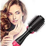 Stolenband Hot Air Brush, Hair Dryer, and Volumizer Styler, Professional 2-in-1 Salon Negative Ion...