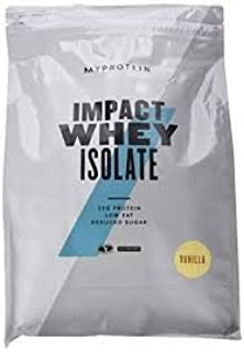 MyProtein Impact Whey Isolate Proteína de Suero, Sabor Vainilla - 1000 gr