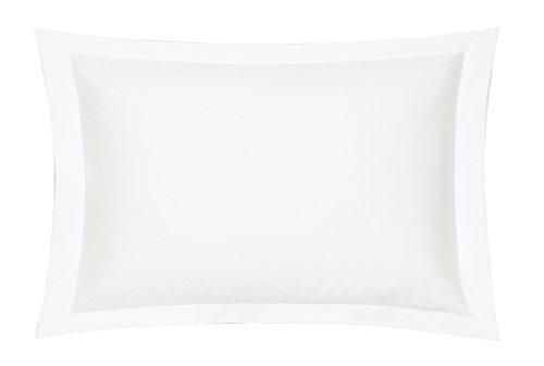 Blanc des Vosges Uni Satin Taie Coton Blanc 50 x 75 cm