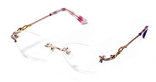 累進多焦点遠近両用老眼鏡(境目のない遠近両用メガネ) R-2145 2色 7度数 (+1.00, クリアレンズ)