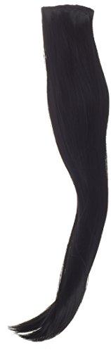 BiYa Hair Elements Thermatt Extensions de cheveux lisses à clipser Couleur 1 Noir 55 cm 140 g