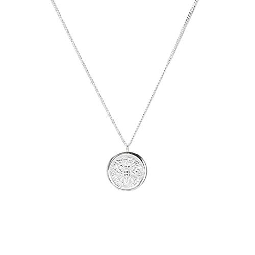 LUUK LIFESTYLE Collane in filigrana d'argento sterling 925 con ciondolo moneta dal design...