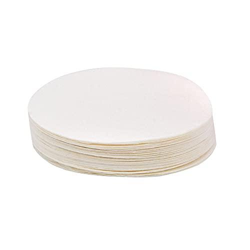 ANCLLO 200 Stück Kaffeefilter Papier, Durchmesser ungebleichte Kaffeefilter, Filterpapier, zum Übergießen von Kaffee-Tropfern, Kaffeebrühpapierfilter für Zuhause und Büro DIY Kaffee