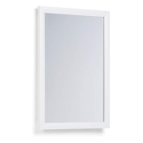 SIMPLIHOME Urban Loft 22 inch x 30 inch Bath Vanity Décor Mirror in Off White
