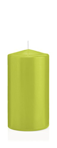 Bougies Vert Pomme, Bougies Pilier Vert Pomme 8 x 6 cm (H x Ø), 16 pièces, Bougies Wiedemann, Bougies de Marque Made in Germany