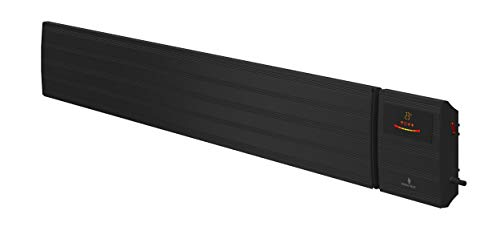 Noble Heat Panther Heizstrahler – schwarz 2600W Dunkelstrahler Timer LED-Display Thermostat Fernbedienung innen außen 230V