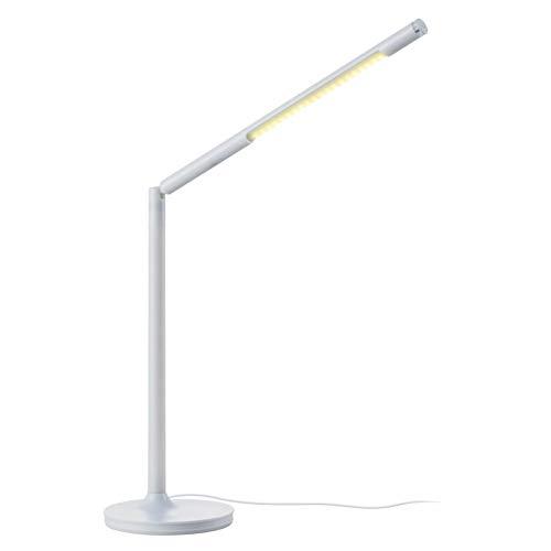 YCEOT LED bureaulamp met USB-aansluiting, dimbare lamp, 3 kleurtemperaturen met helderheid dimbaar, traploos dimbaar