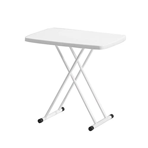 Mesa auxiliar plegable portátil de elevación, mesa de ahorro de espacio con patas plegables confiables para picnic, jardín, muebles del hogar (4 colores) mesa esquinera (color: blanco)