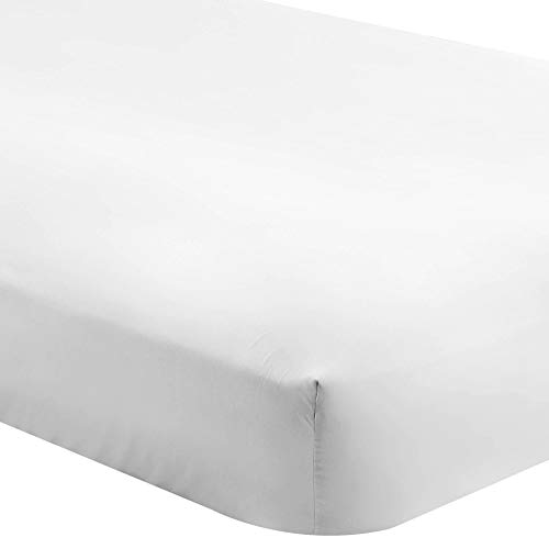 Bare Home Fitted Bottom Sheet California King - Premium 1800 Ultra-Soft Wrinkle Resistant Microfiber - Hypoallergenic - Deep Pocket (Cal King, White)