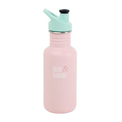 Klean Kanteen Trinkflasche für Kinder, klassisch, 532 ml, mit Sportverschluss (Millennial Blush)