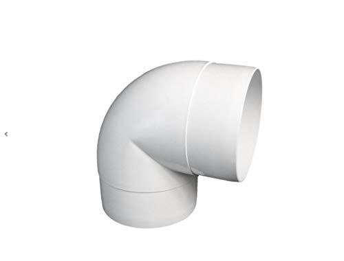 Europlast 125 mm codo de tubo ABS tubería de 125mm de escape tubo redondo 90 ° ventilación, PVC