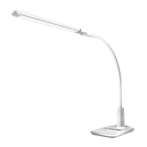 Lámpara de Escritorio Lámpara de escritorio LED de espectro completo Lámpara de escritorio de control táctil de vigilancia con cable USB Clip portátil en la luz de lectura para la sala de estudio, dor