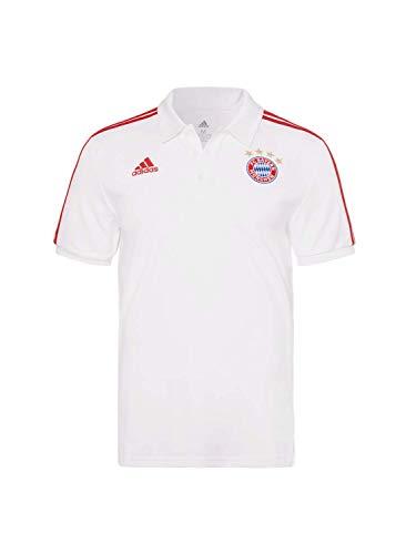 FC Bayern München Lifestyle 3-Streifen Polo weiß, XXXL