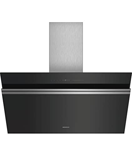 Siemens LC91KWV60 iQ700 Dunstabzugshaube / Kaminhaube / 89 cm / Smart Home kompatibel via Home Connect / CookConnect-System / Luftgütesensor