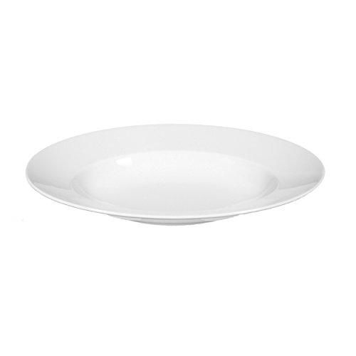 Seltmann 001.092030 Lukullus Assiette à pâtes ovale en porcelaine Blanc 0,45 l 32 x 26 cm