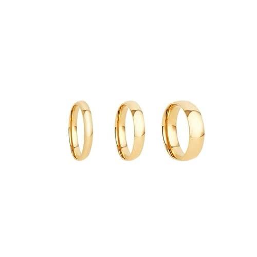 Women's Ring Minimalist Golden Round Geometric Ring Set Women's Classic Round Open Ring Joint Ring Female Jewelry