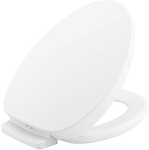 KOHLER K-10349-0 PureWarmth Heated Toilet Seat, Elongated, White with Quiet-Close Lid and Seat, Adjustable LED Nightlight and Warmth Settings, App Connected