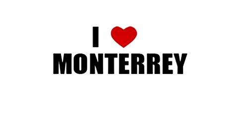 PressFans - I Love Monterrey Mexico Decal Car Laptop Wall Sticker