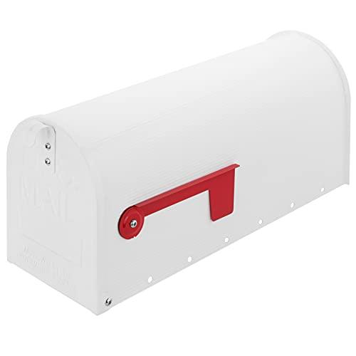 PrimeMatik - Buzón US Mail de Aluminio para Correo Postal Americano Blanco