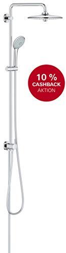 GROHE Euphoria System 260 | Brause- & Duschsystem - mit Umstellung, inkl. Handbrause, Brausestange und -schlauch, 3 Strahlarten | chrom | 27421002