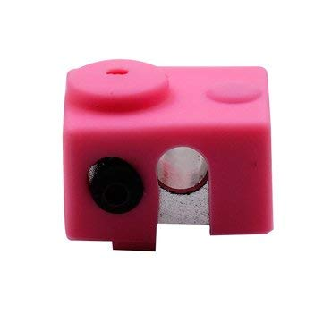 BliliDIY White/Pink/Yellow/Green Universal Hotend Block Insulation Sock Silicone Case For 3D Printer - Pink