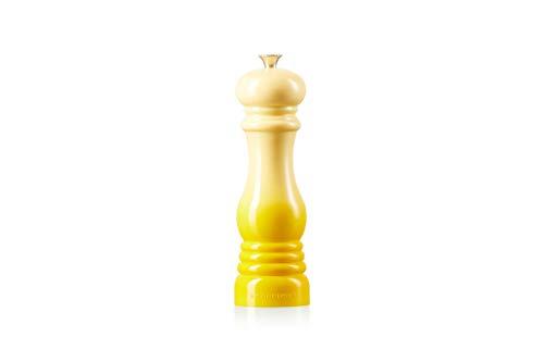 Le Creuset Pfeffermühle, ABS-Kunststoff, 6,2 x 6,2 x 20,8 cm, Keramik-Mahlwerk, Citrus (Gelb)