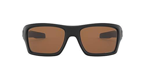 Oakley Men's OO9263 Turbine Rectangular Sunglasses, Matte Black/Prizm Tungsten Polarized, 65 mm