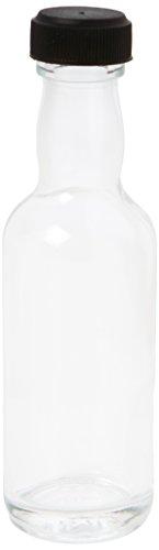 Nutley's 50ml Miniatur-Glas-Flasche mit Schraubdeckel für Hochprozentiges–schwarz (50Stück)