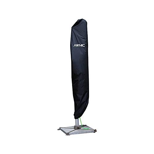 Awnic Ampelschirm Schutzhülle Sonnenschirm Abdeckung für Ampelschirm Sonnenschirmhülle 3m Wasserdicht Reißfest 420D Oxford 266cm X 40/50cm