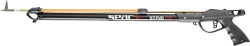 SEAC Sting, Fucile Subacqueo Arbalete da Pesca con Testata per Elastici Paralleli Unisex Adulto, Nero, 55 cm