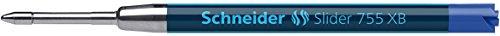 Schneider Slider 755 Kugelschreibermine (ViscoGlide-Technologie, dokumentenecht, XB=Extrabreit) 1er Blisterkarte, blau