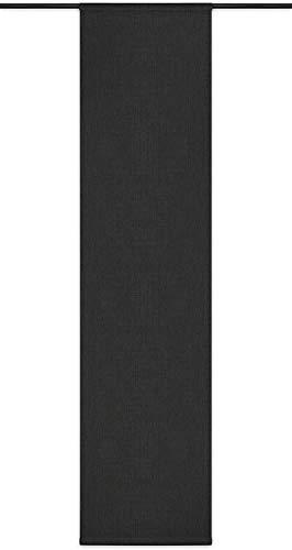 Rollmayer Blickdicht Leinenoptik Schiebevorhang/Flächenvorhang inkl. Beschwerungsstange im 60x200CM Melange (Grafit 22, Faltenband) Schiebepaneele Schiebegardine Vorhang Raumteiler